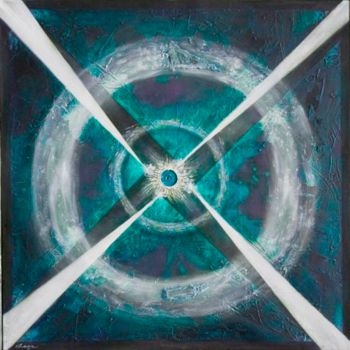 """Painting titled """"Pulsar"""" by Ralph Levesque, Original Art,"""