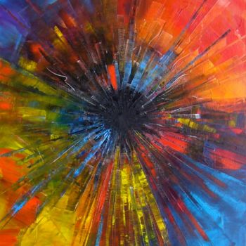 Painting, oil, abstract, artwork by Gilles Renard