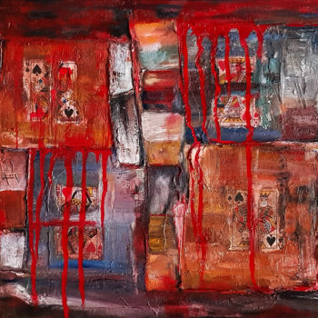 """Painting titled """"Abstract Textured O…"""" by Retne, Original Art, Oil"""