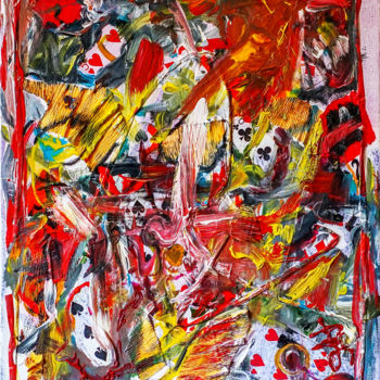 """Painting titled """"Playing Cards Color…"""" by Retne, Original Art, Acrylic"""