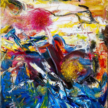 """Painting titled """"Colorful Abstract E…"""" by Retne, Original Art, Oil"""