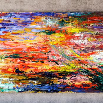 """Painting titled """"- Summer - Abstract…"""" by Retne, Original Art, Oil"""