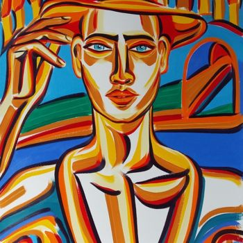 Painting, oil, figurative, artwork by Riina Sirel