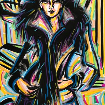 Drawing, gouache, expressionism, artwork by Riina Sirel