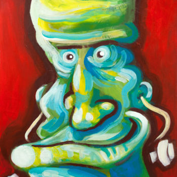 """Painting titled """"Frankie"""" by River E. C. Darling, Original Art, Acrylic"""