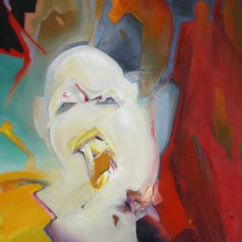 """Painting titled """"SHOCKED"""" by Robin Mols, Original Art,"""