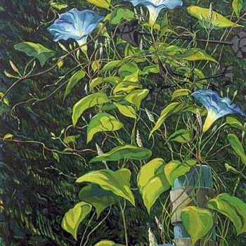 """Drawing titled """"Morning Glory and W…"""" by Robin Mols, Original Art,"""