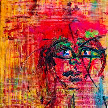 """Painting titled """"The Red Queen cries…"""" by Rok Blenkuš, Original Art, Acrylic"""