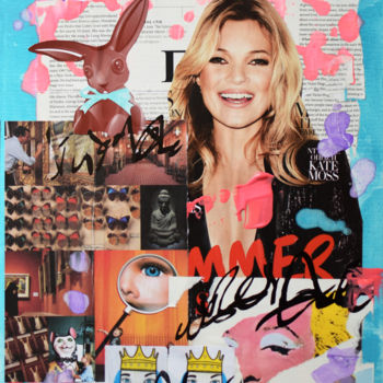 """Painting titled """"Kate Moss Icon"""" by Romilios, Original Art, Acrylic"""