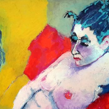 Painting, pastel, fauvism, artwork by Rosemay