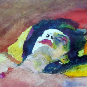 Nude Painting, pastel, fauvism, artwork by Rosemay