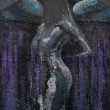 """Painting titled """"Birth of Lilith"""" by Rubirosa, Original Art, Oil"""