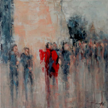 """Painting titled """"nies fid-dahla 19.89"""" by Rupert Cefai, Original Art, Oil Mounted on Stretcher frame"""