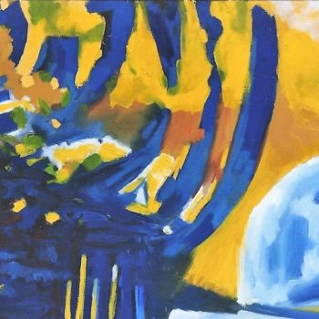 Painting, oil, abstract, artwork by S.Weinmann