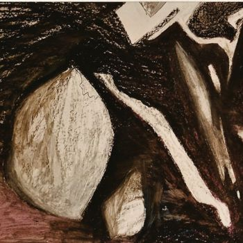 Drawing, chalk, abstract, artwork by S.Weinmann