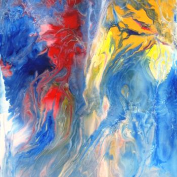 """Painting titled """"Abstract No. 117"""" by Shahriar Aghakhani, Original Art, Acrylic"""