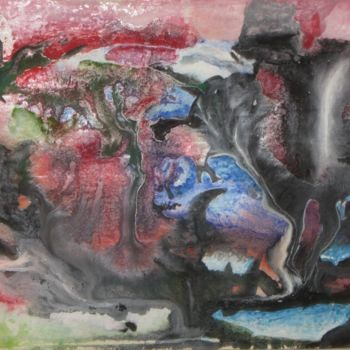 """Painting titled """"Abstract No. 414"""" by Shahriar Aghakhani, Original Art, Watercolor"""