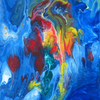 """Painting titled """"Abstract No 504"""" by Shahriar Aghakhani, Original Art, Acrylic Mounted on Wood Panel"""