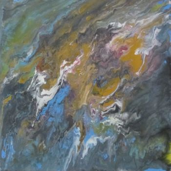 """Painting titled """"Abstract No. 140"""" by Shahriar Aghakhani, Original Art, Acrylic"""