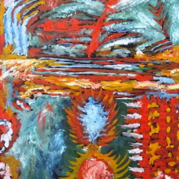 """Painting titled """"Abstract No.449"""" by Shahriar Aghakhani, Original Art, Acrylic"""