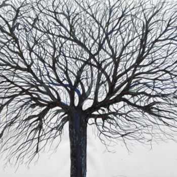 """Drawing titled """"Tree No. 4"""" by Shahriar Aghakhani, Original Art, Ink"""