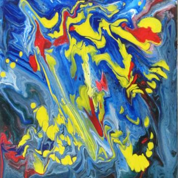 """Painting titled """"Abstract No. 119"""" by Shahriar Aghakhani, Original Art, Acrylic"""