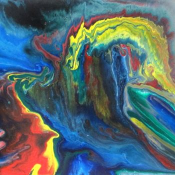 """Painting titled """"Abstract No. 132"""" by Shahriar Aghakhani, Original Art, Acrylic"""
