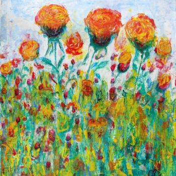 """Painting titled """"Roses"""" by Shahriar Aghakhani, Original Art, Watercolor"""