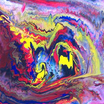 """Painting titled """"Abstract No. 469"""" by Shahriar Aghakhani, Original Art, Acrylic"""