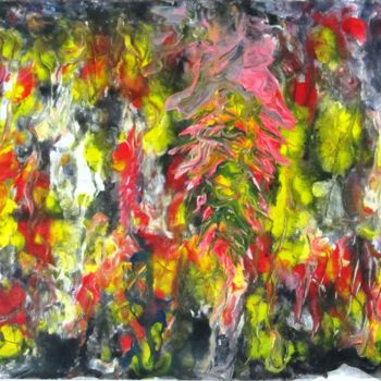 """Painting titled """"Abstract No. 412"""" by Shahriar Aghakhani, Original Art, Watercolor"""