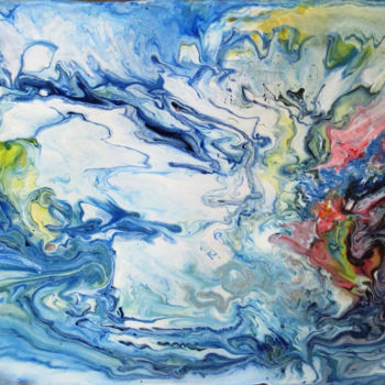 """Painting titled """"Abstract No. 131"""" by Shahriar Aghakhani, Original Art, Acrylic"""