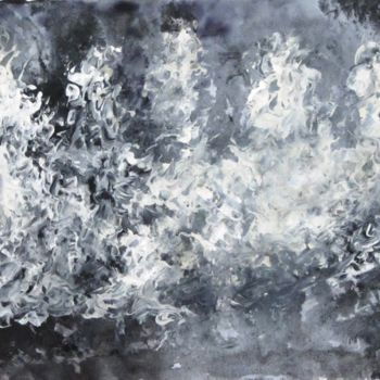 """Painting titled """"Abstract No.406"""" by Shahriar Aghakhani, Original Art, Watercolor"""
