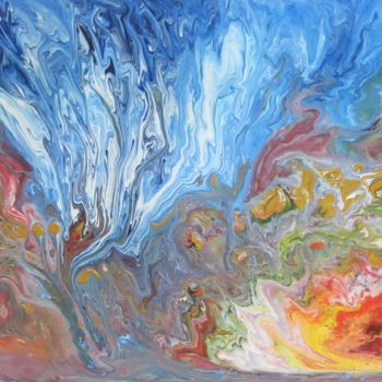 """Painting titled """"Abstract No. 134"""" by Shahriar Aghakhani, Original Art, Acrylic"""