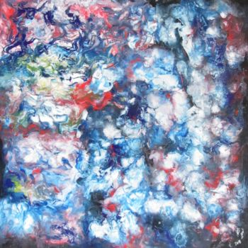 """Painting titled """"Abstract No. 141"""" by Shahriar Aghakhani, Original Art, Watercolor"""