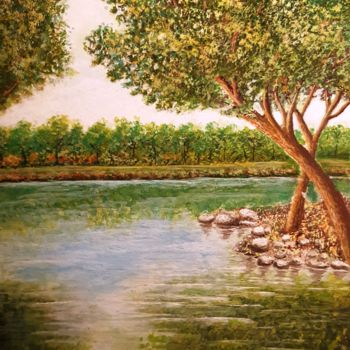 """Painting titled """"summer time"""" by Shahriar Aghakhani, Original Art, Watercolor"""
