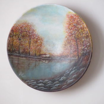 """Painting titled """"Autumn No. 2"""" by Shahriar Aghakhani, Original Art, Oil"""