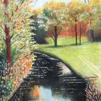 """Painting titled """"The Beauty of Spring"""" by Shahriar Aghakhani, Original Art, Watercolor"""