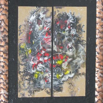 """Painting titled """"Abstract No. 149"""" by Shahriar Aghakhani, Original Art, Watercolor"""