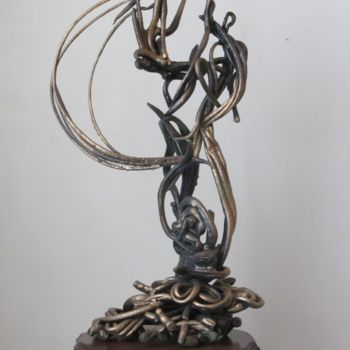 """Sculpture titled """"Solidarity"""" by Shahriar Aghakhani, Original Art, Plastic"""