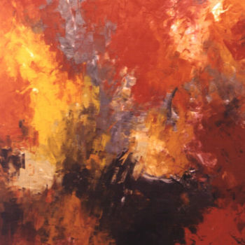 """Painting titled """"Light Through Fores…"""" by Saroja La Colorista, Original Art, Oil"""
