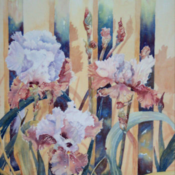 """Painting titled """"Iris"""" by Scally Art, Original Art, Watercolor"""