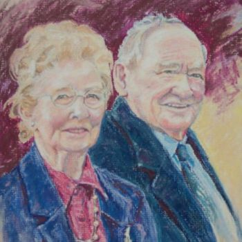 """Painting titled """"Norm and Dulcie"""" by Scally Art, Original Art, Oil"""