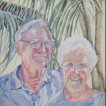 """Painting titled """"Marlene and Cyril"""" by Scally Art, Original Art, Oil"""