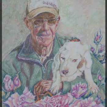 """Painting titled """"Dave and Lucy 2"""" by Scally Art, Original Art, Oil"""