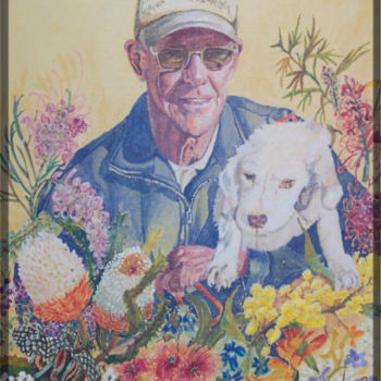 """Painting titled """"Dave and Lucy 4"""" by Scally Art, Original Art, Oil"""