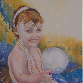 """Painting titled """"Candice - Sea Pearl"""" by Scally Art, Original Art, Oil"""
