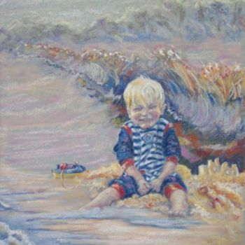 """Painting titled """"Harrison playing at…"""" by Scally Art, Original Art, Oil"""