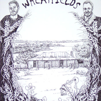 """Painting titled """"Wheatfields book co…"""" by Scally Art, Original Art, Ink"""