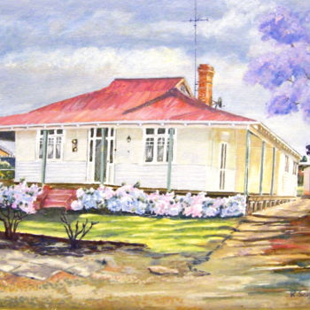 """Painting titled """"House Taylor St. -…"""" by Scally Art, Original Art, Oil"""