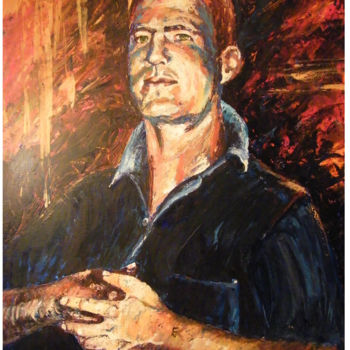 """Painting titled """"'Shonky'  Shaun sec…"""" by Scally Art, Original Art, Oil"""